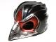 Part No: 12550pb03  Name: Minifigure, Headgear Mask Bird (Raven) with Silver Beak and Dark Red Markings Pattern