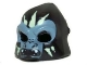 Part No: 13361pb01  Name: Minifigure, Headgear Mask Gorilla with Sand Blue Face, White Fangs, and Yellowish Green Face Paint, Open Mouth Pattern