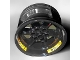 Part No: 15038pb02  Name: Wheel 56mm D. x 34mm Technic Racing Medium, 6 Pin Holes with Yellow 'FIRM GRIPP' Pattern (3 Stickers) - Set 42039