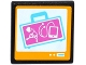 Part No: 15210pb010  Name: Road Sign Clip-on 2 x 2 Square Open O Clip with X-Ray Suitcase on Screen Pattern (Sticker) - Set 41100