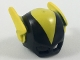 Part No: 15554pb02  Name: Minifigure, Headgear Mask Black Vulcan with Yellow Middle and Wings Pattern