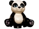 Part No: 16674pb01  Name: Panda, Friends, Sitting with Dark Azure Eyes, Lavender Paws and White Head and Stomach Pattern