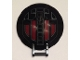 Part No: 18675pb06  Name: Dish 6 x 6 Inverted - No Studs with Handle with SW First Order TIE Fighter Hatch Pattern