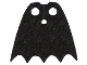 Part No: 19185  Name: Minifigure, Cape Cloth, Scalloped 5 Points (Batman) - Spongy Stretchable Fabric