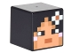 Part No: 19729pb013  Name: Minifigure, Head Modified Cube with Minecraft Skin 2 Pattern