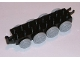 Part No: 22307c02  Name: Duplo, Train Base 2 x 8 with 8 Light Bluish Gray Train Wheels and Movable Hook