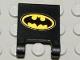 Part No: 2335pb015  Name: Flag 2 x 2 Square with Batman Logo Pattern (Sticker) - Set 7783