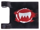 Part No: 2335pb100  Name: Flag 2 x 2 Square with Silver Fangs and Dark Red Pattern