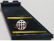 Part No: 2340pb017R  Name: Tail 4 x 1 x 3 with Yellow Lines and Alpha Team Logo Pattern on Right Side (Sticker) - Set 6772