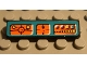Part No: 2431pb032  Name: Tile 1 x 4 with Orange Control Panels on Dark Turquoise Background Pattern (Sticker) - Set 8233