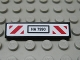 Part No: 2431pb278  Name: Tile 1 x 4 with 'HA 7990' and Red and White Diagonal Stripes Pattern (Sticker) - Set 7990