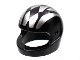 Part No: 2446pb12  Name: Minifigure, Headgear Helmet Standard with Silver Stripes and Harlequin Diamond Pattern