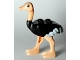 Part No: 24689pb01c01  Name: Ostrich with White Tail and Wingtips and Light Flesh Legs and Head, Complete Assembly