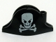 Part No: 2528pb03  Name: Minifig, Headgear Hat, Pirate Bicorne with Large Skull and Crossbones Pattern