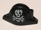 Part No: 2528pb11  Name: Minifigure, Headgear Hat, Pirate Bicorne with Skull with Eyepatch and Wrenches Crossbones Pattern