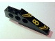 Part No: 2744pb017L  Name: Technic Slope Long with Yellow '8' and Bent Stripes Pattern Model Left (Sticker) - Set 8425