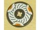 Part No: 2958pb012  Name: Technic, Disk 3 x 3 with Disk Brake Orange Caliper Pattern (Sticker) - Set 8516