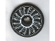 Part No: 2958pb023  Name: Technic, Disk 3 x 3 with Fan Blade Black and White In-Motion Pattern (Sticker) - Set 8653