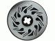 Part No: 2958pb038  Name: Technic, Disk 3 x 3 with Disk Brake Silver / Black Triangle Swirls Pattern (Sticker) - Set 8354