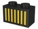 Part No: 3004p05  Name: Brick 1 x 2 with Yellow Grille Pattern