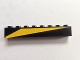 Part No: 3008pb139R  Name: Brick 1 x 8 with Yellow Triangle Pattern Model Right Side (Sticker) - Set 6679-1