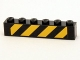 Part No: 3009pb170  Name: Brick 1 x 6 with Black and Yellow Danger Stripes Pattern (Sticker) - Set 4204