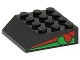 Part No: 30182pb02  Name: Slope 45 4 x 4 with Octan Logo and Red & Green Stripe Pattern