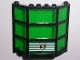 Part No: 30185c05pb01  Name: Window Bay 3 x 8 x 6 with Trans-Green Glass and Police Shield Logo Pattern