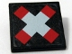 Part No: 30258pb012  Name: Road Sign Clip-on 2 x 2 Square with Crossed Bars (Train Crossing) Pattern (Sticker) - Set 10128