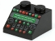 Part No: 3039pb048  Name: Slope 45 2 x 2 with Control Panel with Red and Green Lamps Pattern