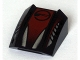 Part No: 30602pb018  Name: Slope, Curved 2 x 2 Lip, No Studs with Silver and Red with Circle Pattern