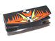 Part No: 30622pb03  Name: Vehicle, Grille 1 x 4 with Two Pins with Flames and Eyes Pattern