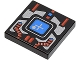 Part No: 3068bp51  Name: Tile 2 x 2 with Spyrius Blue Screen with Plus Sign and Silver and Red Panel Pattern