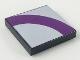 Part No: 3068bpb0085  Name: Tile 2 x 2 with Purple Quarter Ring on Light Violet Background Pattern