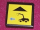 Part No: 3068bpb0120  Name: Tile 2 x 2 with Black Car and Blue Arrow Left Pattern (Sticker) - Set 8480