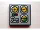 Part No: 3068bpb0220  Name: Tile 2 x 2 with Groove with Avionics Helicopter Controls Pattern (Sticker) - Set 8425