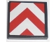 Part No: 3068bpb0221  Name: Tile 2 x 2 with Chevron Stripes Red and White Pattern (Sticker)