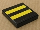 Part No: 3068bpb0334  Name: Tile 2 x 2 with Two Yellow Stripes on Black Background Pattern (Sticker) - Set 8154