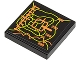 Part No: 3068bpb0423  Name: Tile 2 x 2 with Orange and Lime Elevation Display Pattern (Sticker) - Set 8960