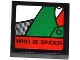 Part No: 3068bpb0768  Name: Tile 2 x 2 with J. Jonah Jameson on Screen Pattern 6 (Sticker) - Set 76005