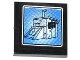 Part No: 3068bpb0845  Name: Tile 2 x 2 with Groove with Surveillance Screen Shed Pattern (Sticker) - Set 60044