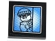 Part No: 3068bpb0847  Name: Tile 2 x 2 with Groove with Surveillance Screen Bandit Minifigure Pattern (Sticker) - Set 60044