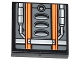 Part No: 3068bpb0856  Name: Tile 2 x 2 with Groove with Orange Stripes, Air Intakes and Pipes Pattern (Sticker) - Set 75049