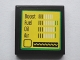 Part No: 3068bpb1072  Name: Tile 2 x 2 with 'Boost', 'Fuel, 'Oil' and 'Air' Bar Gauges and Sine Wave Meter Pattern (Sticker) - Set 75913