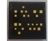 Part No: 3068bpb1099  Name: Tile 2 x 2 with Yellow Squares (Windows) on Black Background Pattern (Sticker) - Set 9515