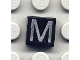 Part No: 3070bpb021  Name: Tile 1 x 1 with Letter Capital M Pattern