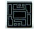 Part No: 3070bpb123  Name: Tile 1 x 1 with Silver Circuitry Pattern
