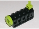 Part No: 32074ac01  Name: Technic Competition Cannon, Round Bottom with Lime Ends