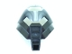 Lot ID: 111126975  Part No: 32573pb01  Name: Bionicle Mask Huna with Pearl Light Gray Top (Tehutti)