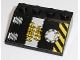 Part No: 3297pb030  Name: Slope 33 3 x 4 with 'KEEP OFF' and Black and Yellow Danger Stripes Pattern (Sticker) - Set 8633